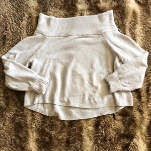Chenille off the shoulder sweater